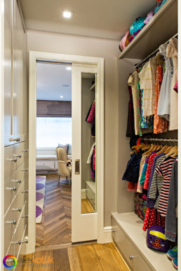 Manhattan townhouse walk-in-closet