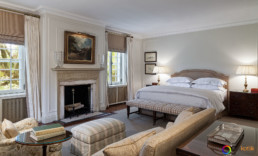 Interior design photography of a guestroom of Deepdale Golf Club